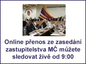 Online přenos ze zasedání ZMČ